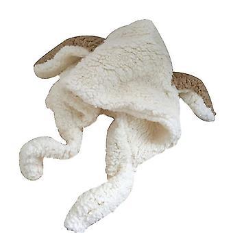 Automne et hiver mignon bunny oreilles peluche chapeau chaud écharpe chapeau intégré oreille de protection cap