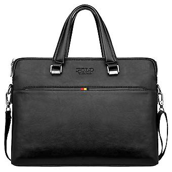 Simple Design Leisure Men's Leather Laptop Handbag/ Briefcase Computer Shoulder