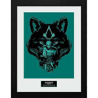 Assassins Creed Valhalla Wolf Framed Picture