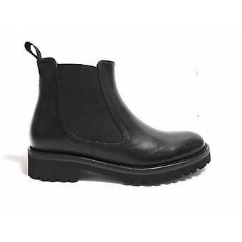 Shoes Women's Gas Bearded Ankle Boot Beatles Leather Black Color D18nb04