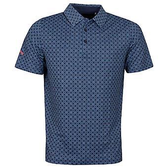 Callaway Golf Mens 2021 Art Deco Foulard Printed Opti-Dri Wicking Polo Shirt