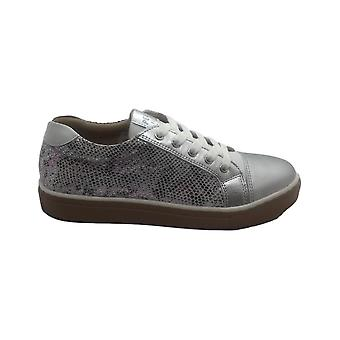 PETASIL Laced Trainer Style Shoe In Silver Pink