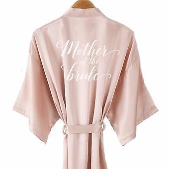 Bride Satin-silk Robe Women Wedding Short Robes