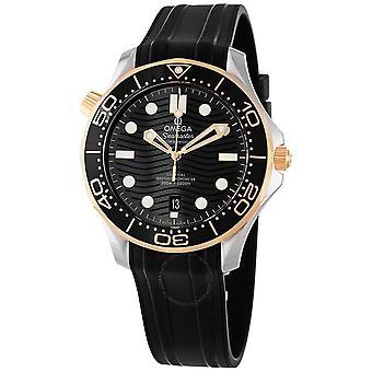 Omega Seamaster Automatic Chronometer Black Dial Men's Watch 210.22.42.20.01.001