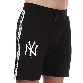 Menns New Era Tapet Logo New York Yankees Shorts i Svart