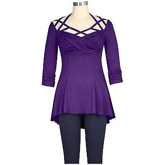 Chic Star Mock Halter Top Violetti