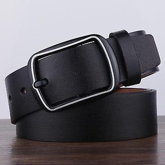 Dandali YY25 Pánské Módní Retro Buckle Kožený pás pásek Pásek, Délka: 110cm (černá)