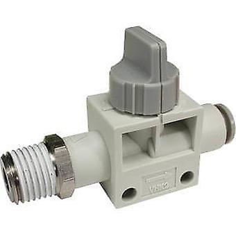 SMC blå dreieknapp pneumatiske manuell kontroll ventil, Pbt 10 Mm, 0 til + 60 C