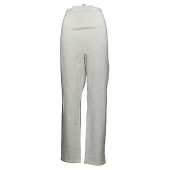 Women with Control Women's Pants Tummy Control Slim Leg White A391211