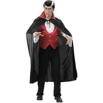 Cape vampire col rouge adulte Halloween