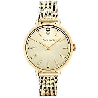 Police Analogueic Watch Unisex Adult Quartz with Stainless Steel Strap PL16035MSG.22MM