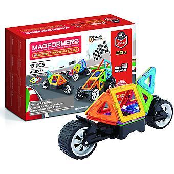 FengChun 707019 Erstaunliche Transform Rad Set magnetische Gebäude Spielzeug, mehrfarbige