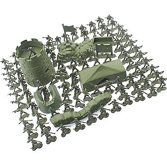 Mini Gift Accessories Military Soldier Model Set Kit Toddler Army Men Kids Toy Figures Tanks Children Play Static