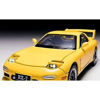 Die-cast metal 1/32 Japanese classic RX7 car model furniture exhibition children's toys(Yellow)