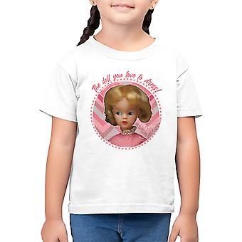 Sinipunainen mekko Lasten t-paita