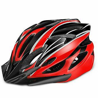 Punainen ja musta pyöräily pyöräilykypärät aikuinen polkupyörä mtb miesten naisten säädettävä turvakypärä az5893