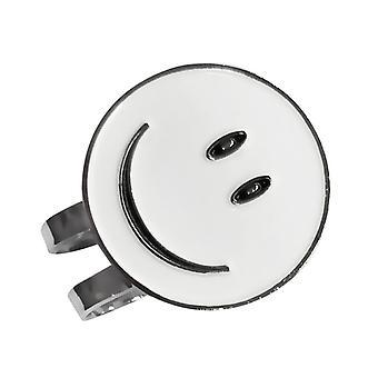 ابتسامة بيضاء وجه جولف الكرة علامة مع مقطع قبعة