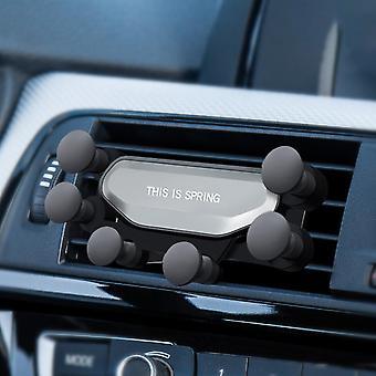 Verrouillage automatique de tringlerie de gravité de support de téléphone de voiture d'évent d'air pour 4,0-6,5 pouces