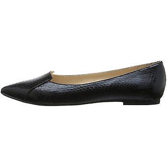 Callisto Women's Shoes Snakeskin Pointed Toe Ballet Flats