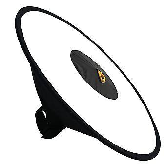 Universal 44cm foldable conical ring flashlight diffuser portable soft box fill light cover for camera flash macro shooting