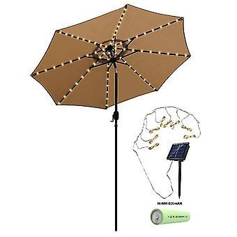 Outdoor Waterproof Solar Umbrella String Light, 104 Lights