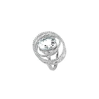 Jacques Lemans - Ring Sterling Silver with White Topaz - SE-R159A54 - Ring width: 54