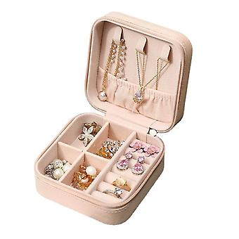 Jewelry storage box bag portable ring earrings travel collection box
