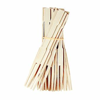 ECO Connection Pack Of 50 Disposable Natural Bamboo Skewer Forks