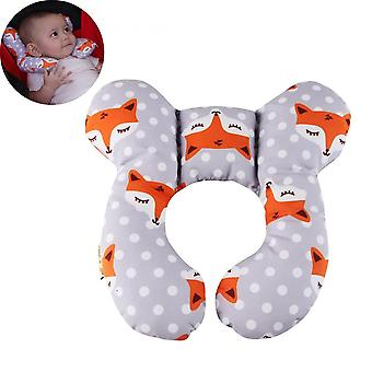 Baby Head Support Pillow Fox Soft Cotton Travel Pillow For Infants