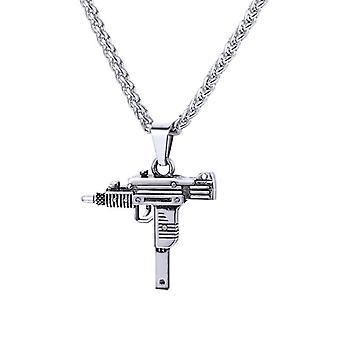 Collar, arma automática-plata
