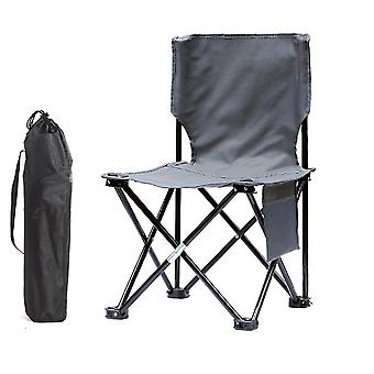 Camping Stool Portable Folding Stool for Outdoor Beach Hiking Fishing(60x34.5x34.5cm)(Gray)