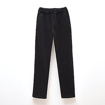 Dětské elastické khaki černé kalhoty základní školy oblečení