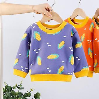 1-7 años Suétereshirt Winter Plus Velvet Clothes