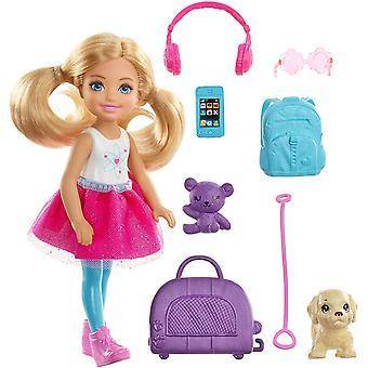Barbie Chelsea dukke og reisesett med valp
