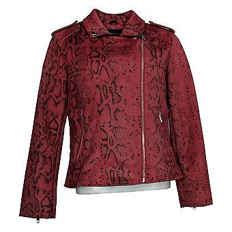 Colleen Lopez Dames Bedrukt faux suède jas rood