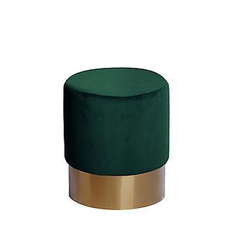 Ottoman - Modern - Green - Pine wood - 35cm x 35cm x 42cm