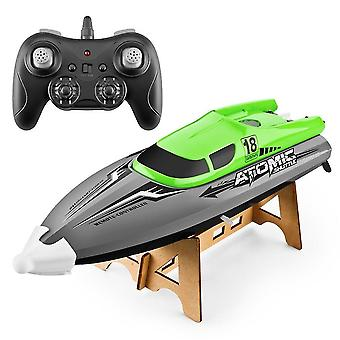 Remote control boats watercraft 2.4G high speed remote control boat green