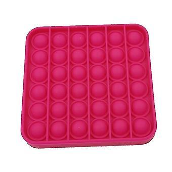Push Pops Bubble sensorisch squishy Autismus Anti-Stress-Spielzeug (Rot 1)