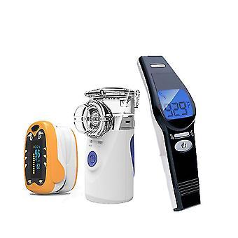 Medische zuigeling vinger pulse oximeter mini handheld stille inhaleren vernevelaar ousehold infrarood