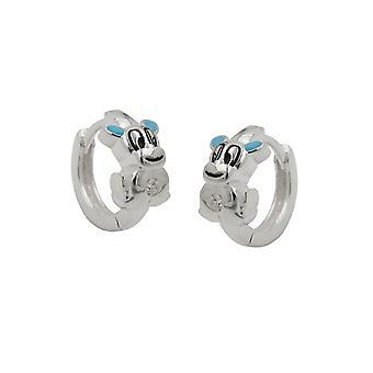 Hoop Earrings Little Dog Silver 925 39723 39723 39723