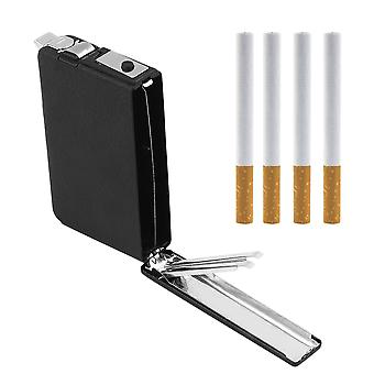 2 In 1 Cigarette Case Box Holder Windproof Flame Fire Gas Refillable Lighter
