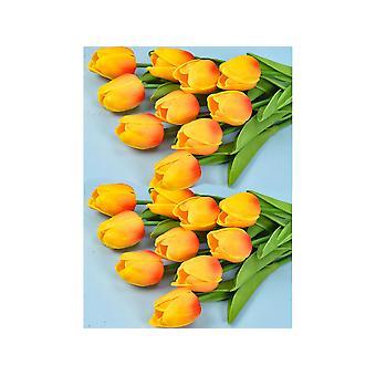 20pcs Künstliche Tulpenblumen Fake Rote Tulpenblumen Hochzeitsstrauß Haus Garten Dekoration