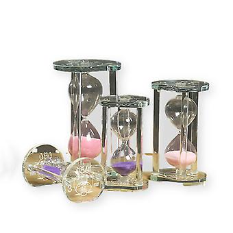 3/5/10/15 Minutes Crystal Time Hourglass Creative Glass Timepiece Christmas Gift