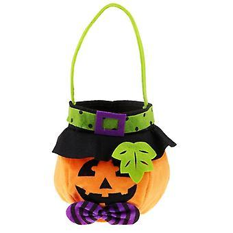 Pumpkin Halloween Doll Decoration Festival Non-woven Candy Bag Party Decoration Bar Party Club-orange