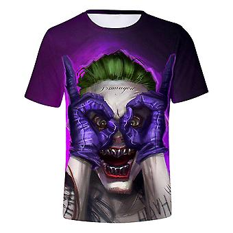 New Personality Clown 3d Printed Short Sleeve Round Neck T-shirt