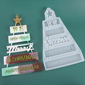 Merry Christmas Silicone Jewelry Casting Mold Resin Mould Xmas Decor