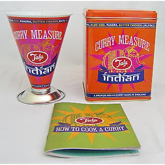 Tala Turmeric Thali Indian Curry Measure & Storage Tin Set