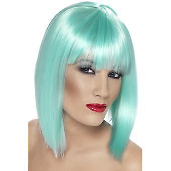 Glam paryk, neon aquamarine