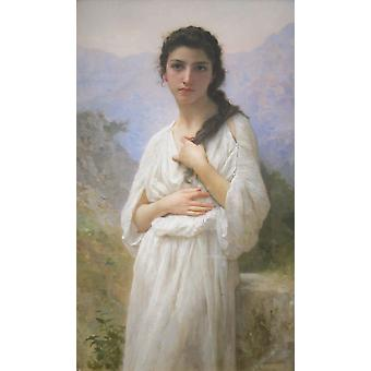 William Bouguereau - Meditation Poster Print Giclee