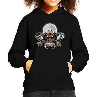 Shuffle And Slice Michonne Walking Dead Kid's Hooded Sweatshirt